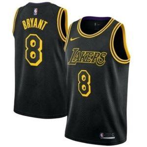 Los Angeles Lakers #8 Kobe Bryant Black Jersey